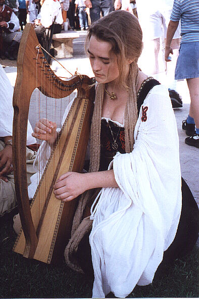 Elizabeth Plays Harp